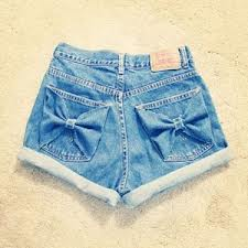 bow pocket high waisted shorts