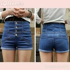 front and back high waisted shorts