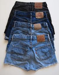 layered high waisted shorts