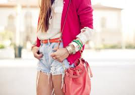 pink sweater high waisted shorts